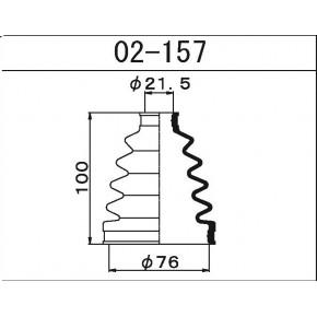 02157 Пыльник ШРУСа внешнего Maruichi