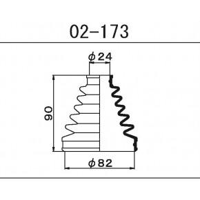 02-173Пыльник ШРУСа внешнегоMaruichi