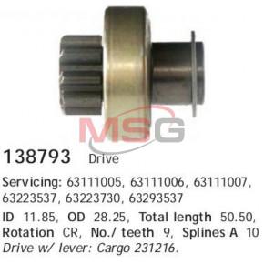 138793c_=21-41-36 !бендикс(Marelli) BMW E36/E46/E39 1.6-2.8, Fiat Brava/Bravo 1.6/2.0 20v