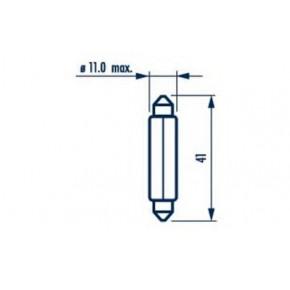 17327 Narva Лампа C10W 24V SV8,5 T11X41