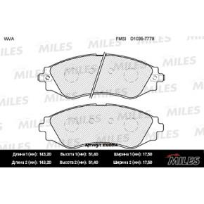 MILES E100014 Колодки передние с датч.износа (CHEVROLET LACETTI (J200)/ DAEWOO LANOS /NEXIA 14