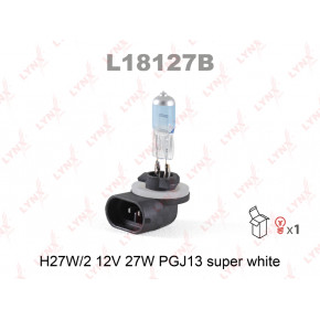 L18127B Лампа H27W/2 12V PGJ13 SUPER WHITE LYNXauto арт. L18127B