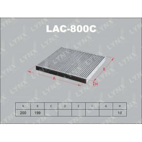 LAC-800C Фильтр салона LYNXauto