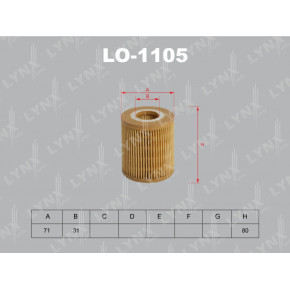 LO1105 Вставка фильтра масляного LYNXauto
