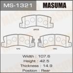 Колодки Masuma MS-1321