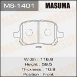 Колодки Masuma MS-1401