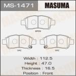 Колодки Masuma MS-1471
