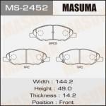 Колодки Masuma MS-2452