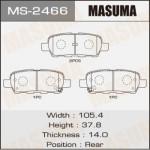 Колодки Masuma MS-2466