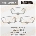 Колодки Masuma MS-2467