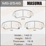 Колодки Masuma MS-2546