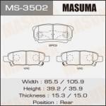 Колодки Masuma MS-3502