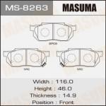 Колодки Masuma MS-8263
