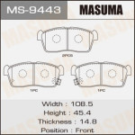 Колодки Masuma MS-9443