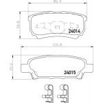 PF3502 Колодки тормозные дисковые | зад | Nisshinbo