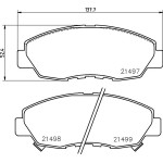 PF8484 Колодки тормозные дисковые | перед | Nisshinbo