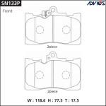 Дисковые тормозные колодки ADVICS (F) TOYOTA CROWN S200 (08-13), MARK X #X130 (09-), LEXUS IS XE20 (